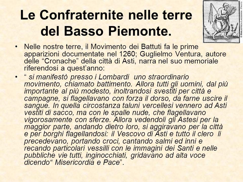 Le Confraternite nelle terre del Basso Piemonte.