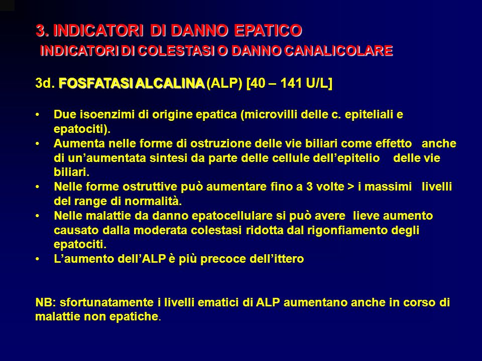 3. INDICATORI DI DANNO EPATICO