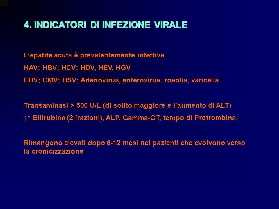4. INDICATORI DI INFEZIONE VIRALE
