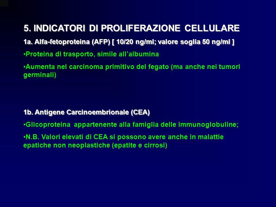 5. INDICATORI DI PROLIFERAZIONE CELLULARE