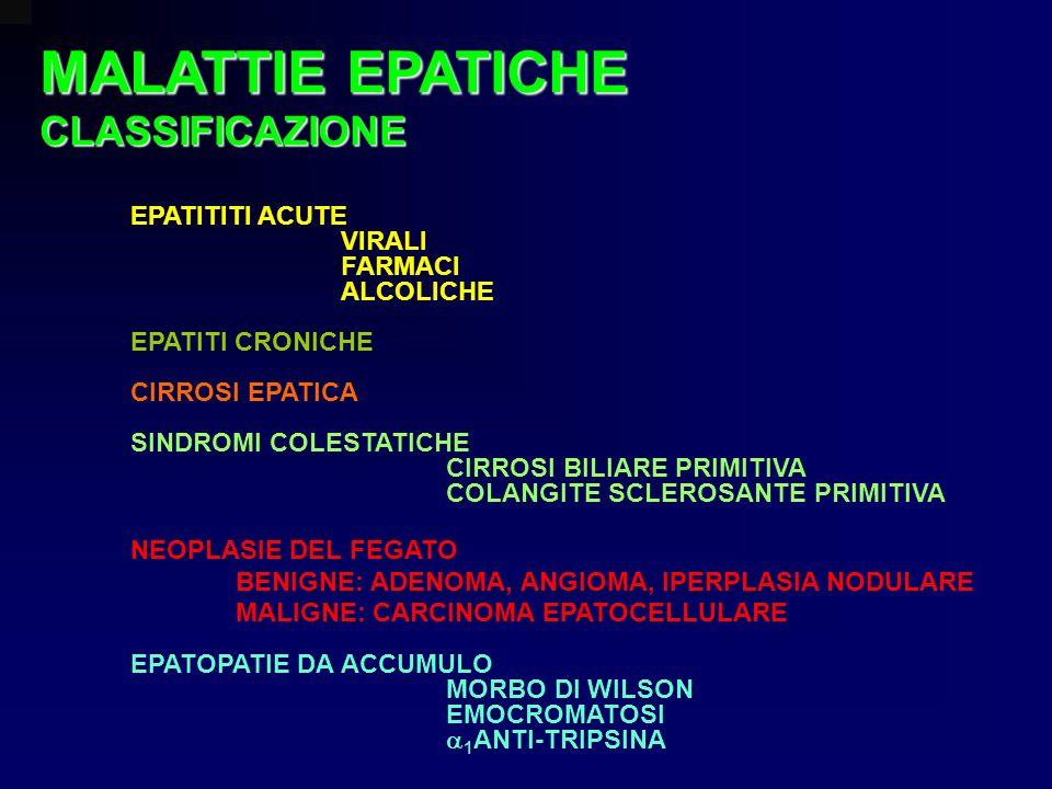 MALATTIE EPATICHE CLASSIFICAZIONE EPATITITI ACUTE VIRALI FARMACI
