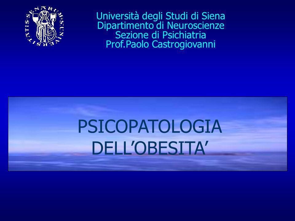 PSICOPATOLOGIA DELL'OBESITA'