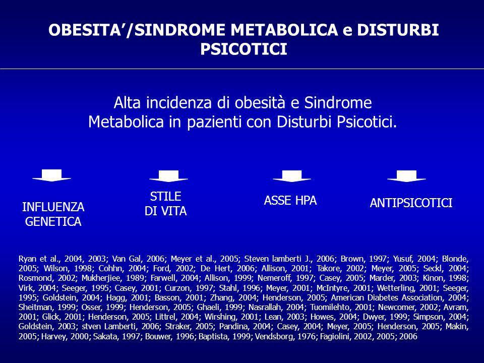 OBESITA'/SINDROME METABOLICA e DISTURBI PSICOTICI