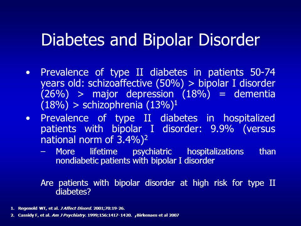Diabetes and Bipolar Disorder