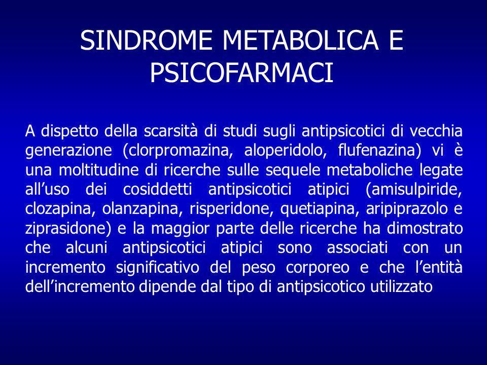SINDROME METABOLICA E PSICOFARMACI