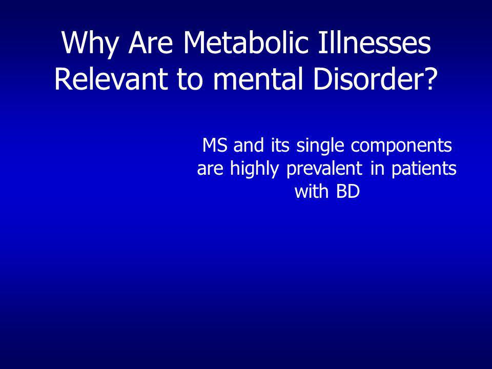 Why Are Metabolic Illnesses Relevant to mental Disorder