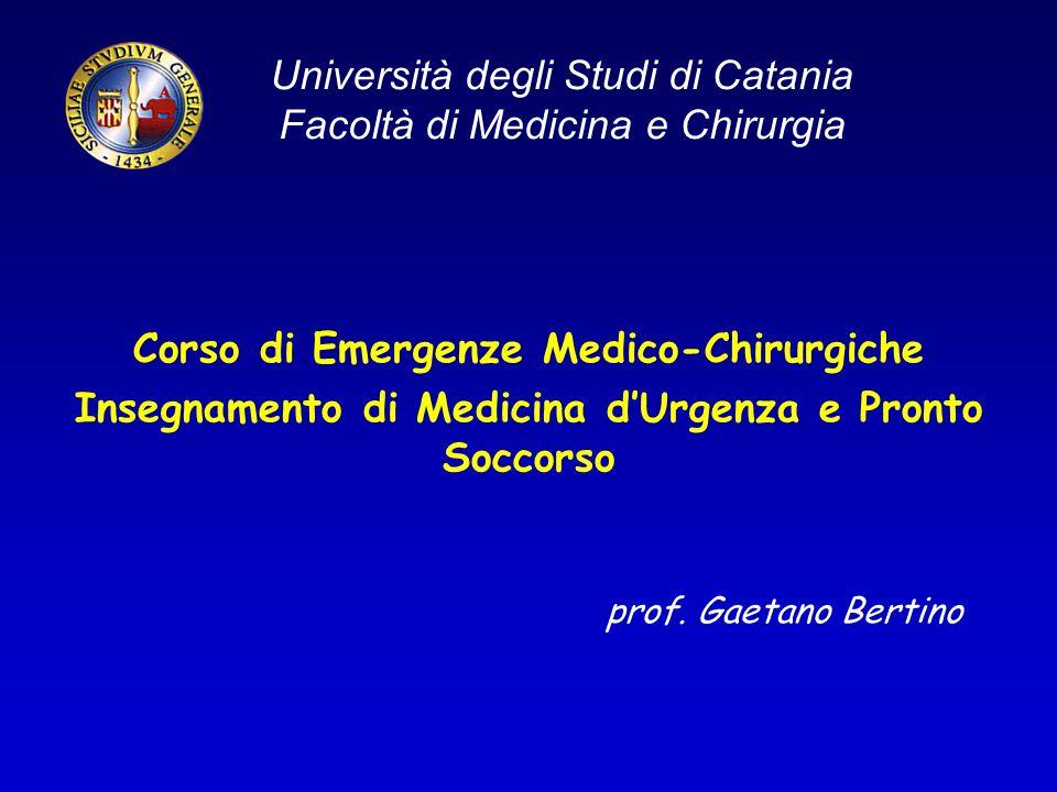 Università degli Studi di Catania Facoltà di Medicina e Chirurgia