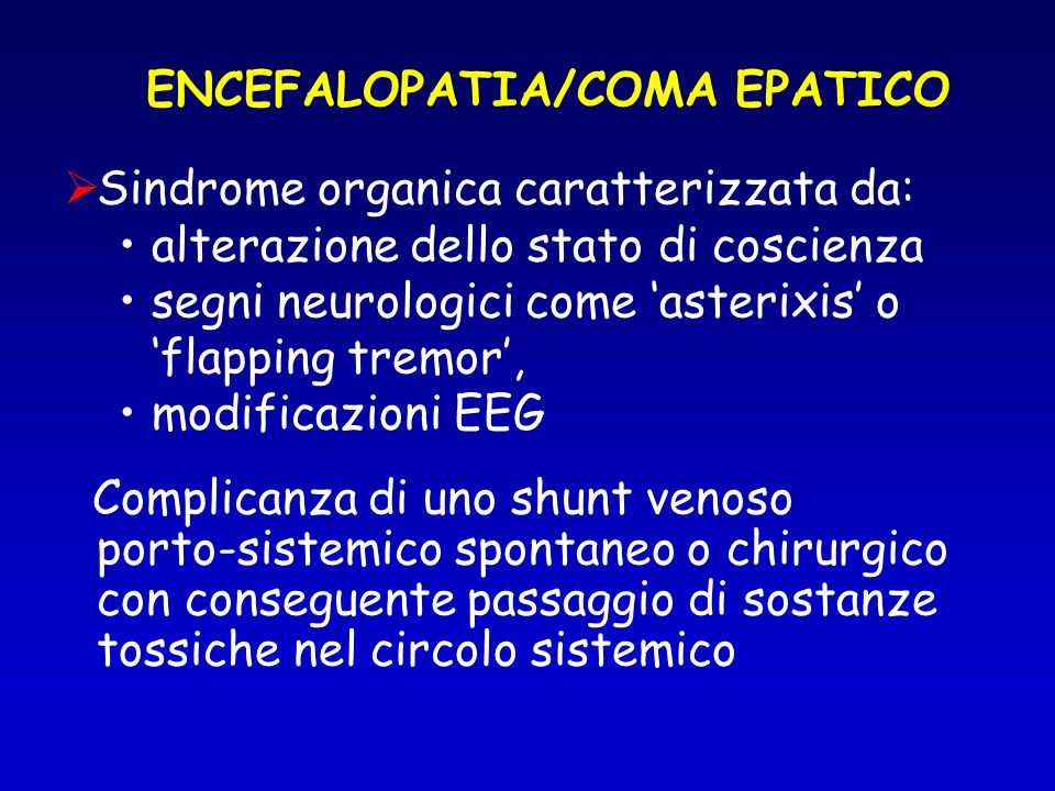 ENCEFALOPATIA/COMA EPATICO