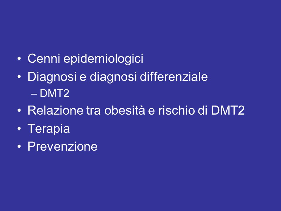 Diagnosi e diagnosi differenziale