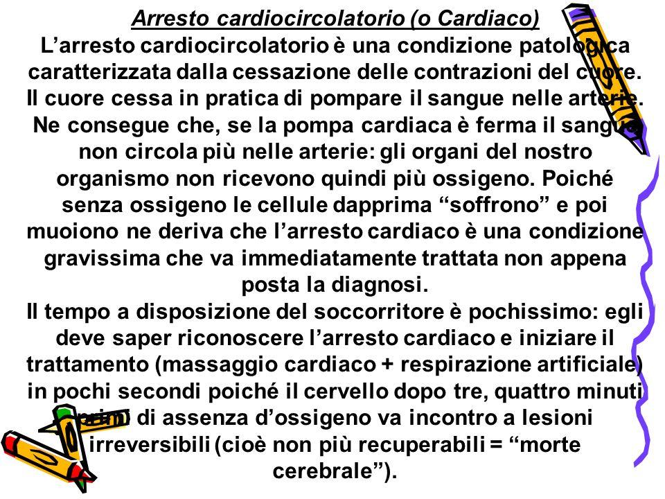 Arresto cardiocircolatorio (o Cardiaco)