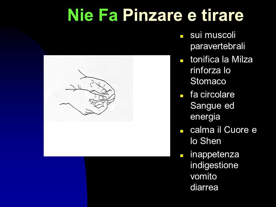 Nie Fa Pinzare e tirare sui muscoli paravertebrali