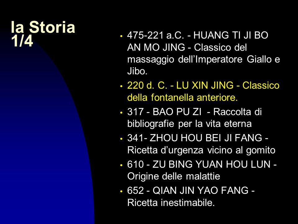 29/03/2017la Storia 1/4. 475-221 a.C. - HUANG TI JI BO AN MO JING - Classico del massaggio dell'Imperatore Giallo e Jibo.