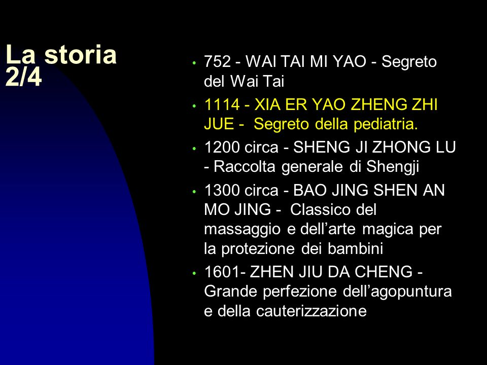 La storia 2/4 752 - WAI TAI MI YAO - Segreto del Wai Tai