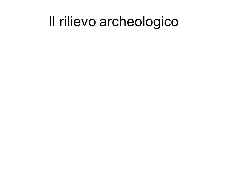 Il rilievo archeologico
