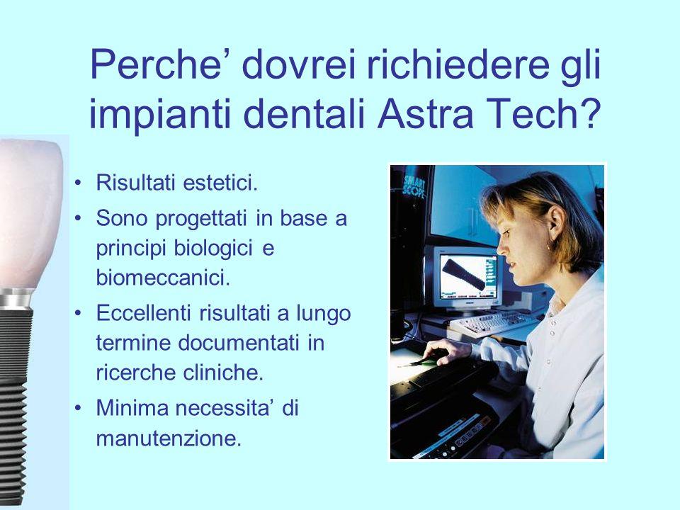 Perche' dovrei richiedere gli impianti dentali Astra Tech