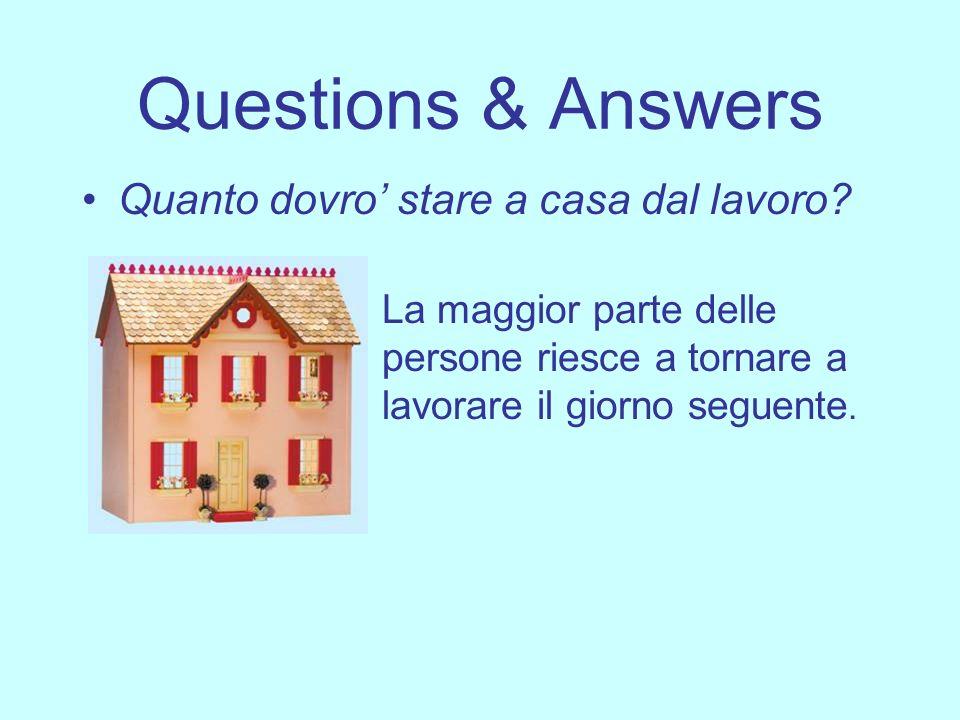 Questions & Answers Quanto dovro' stare a casa dal lavoro
