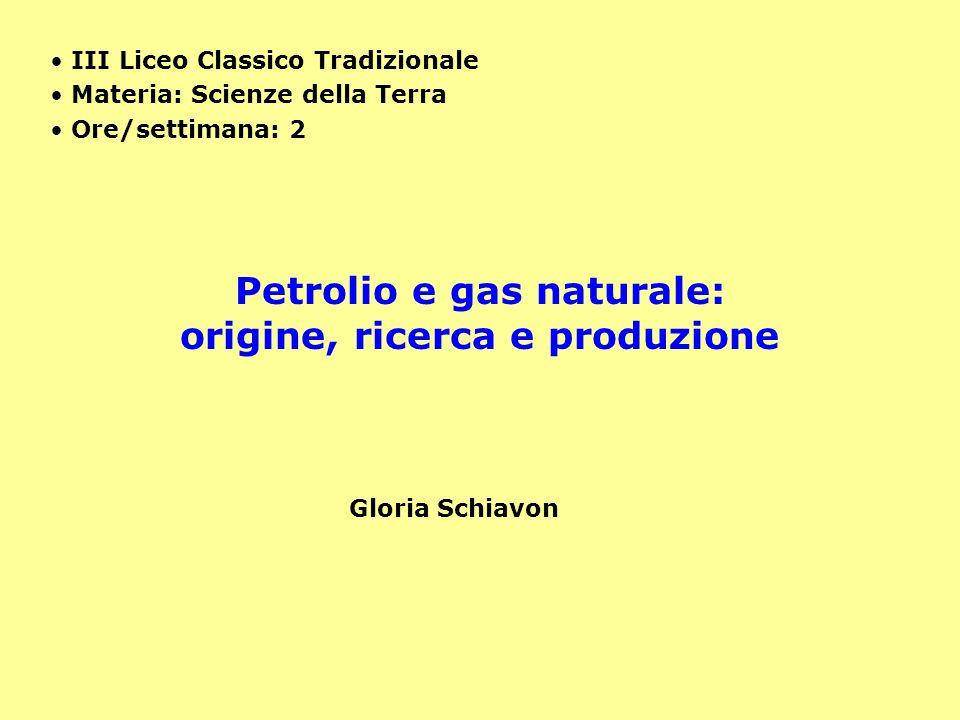 Petrolio e gas naturale: origine, ricerca e produzione