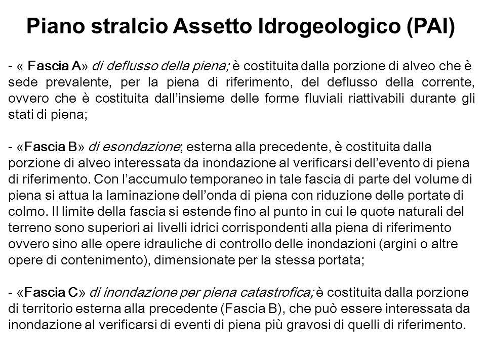 Piano stralcio Assetto Idrogeologico (PAI)
