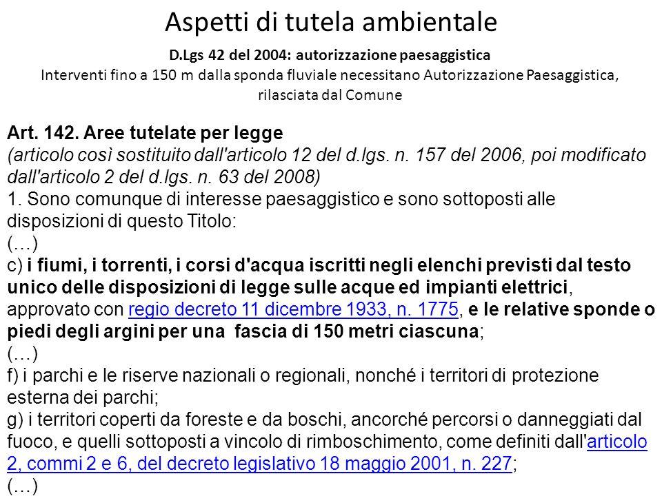 D.Lgs 42 del 2004: autorizzazione paesaggistica