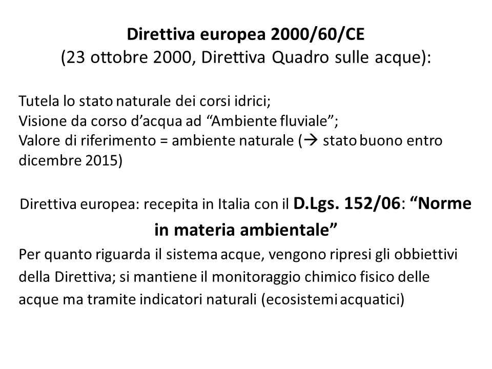 Direttiva europea 2000/60/CE