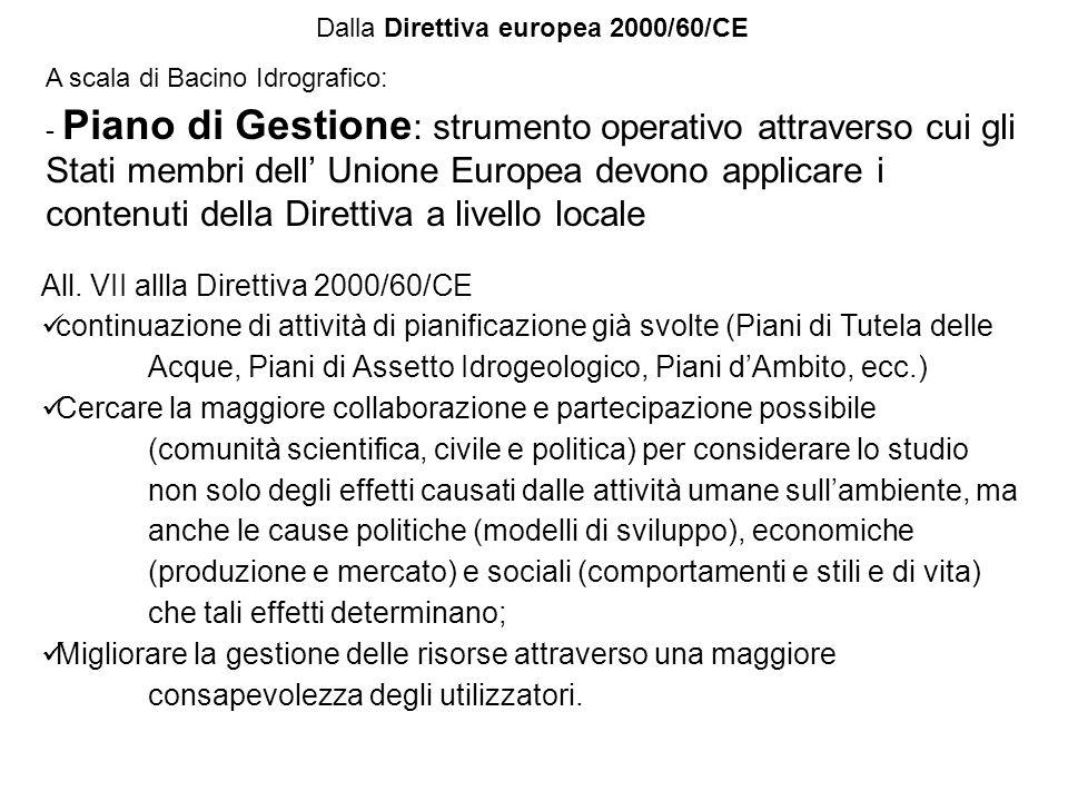 Dalla Direttiva europea 2000/60/CE