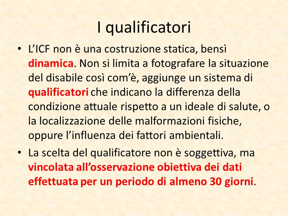 I qualificatori