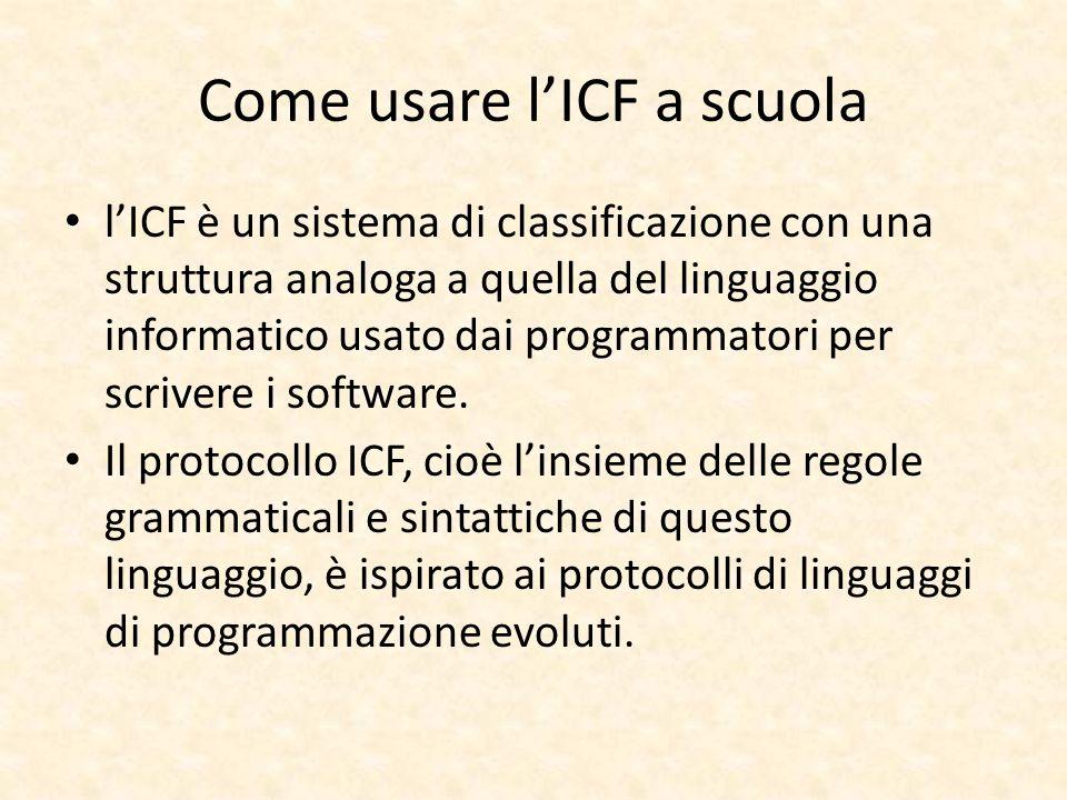 Come usare l'ICF a scuola