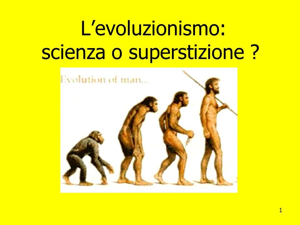 L'evoluzionismo: scienza o superstizione