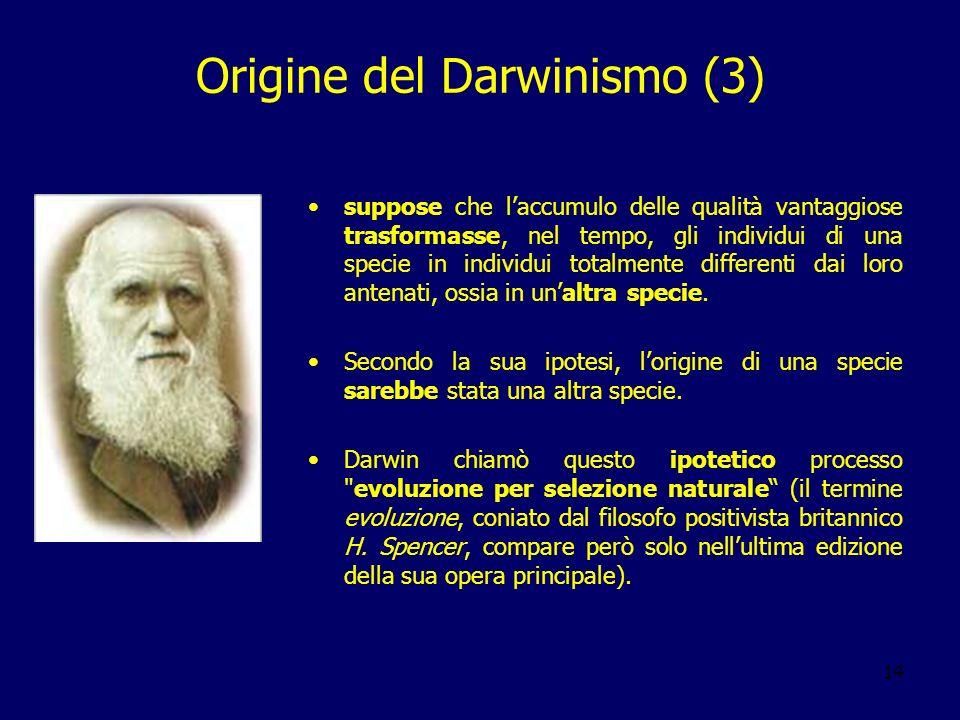 Origine del Darwinismo (3)