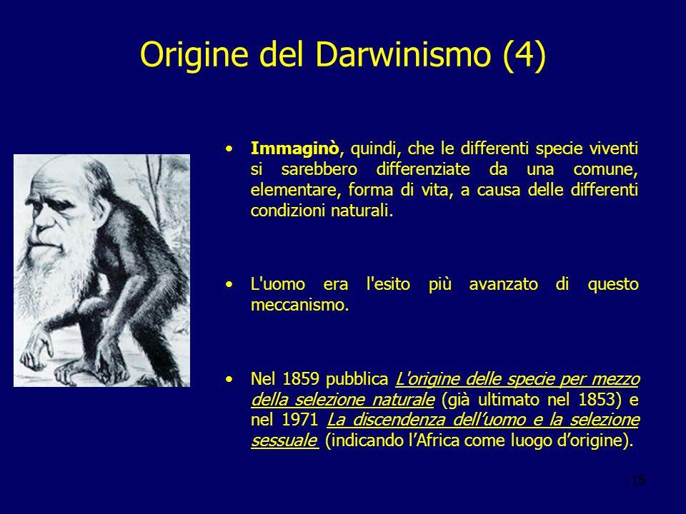 Origine del Darwinismo (4)