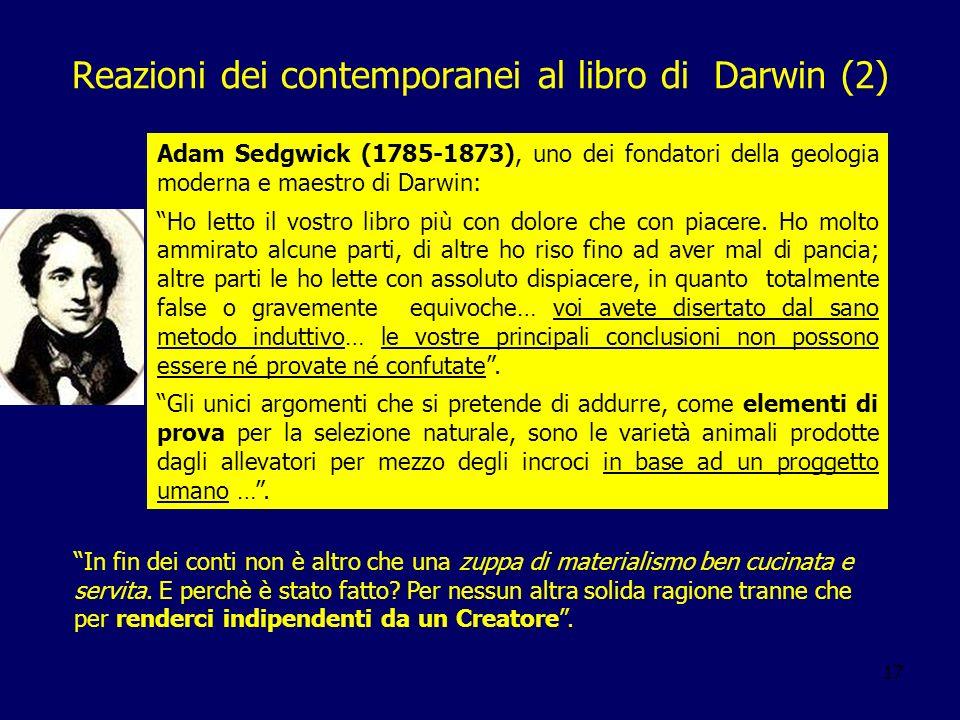 Reazioni dei contemporanei al libro di Darwin (2)
