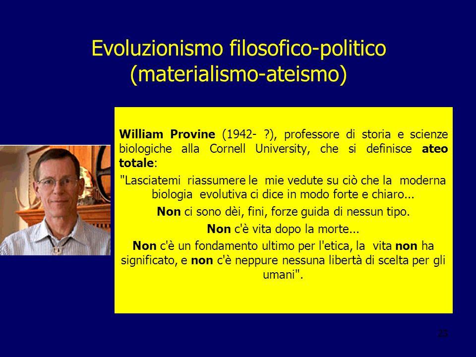 Evoluzionismo filosofico-politico (materialismo-ateismo)