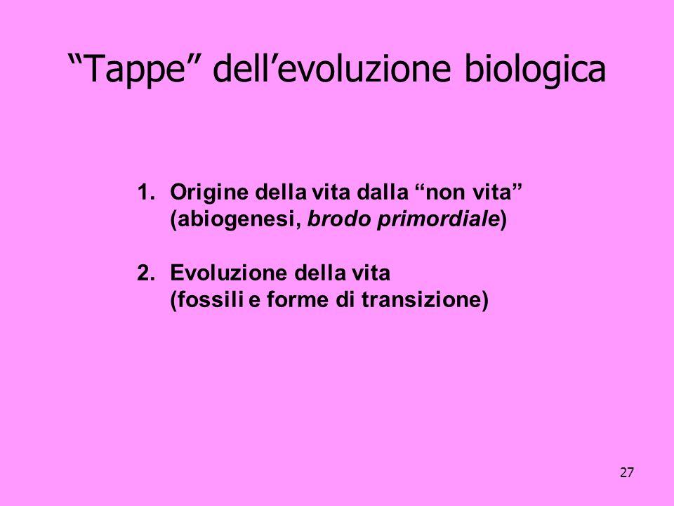 Tappe dell'evoluzione biologica