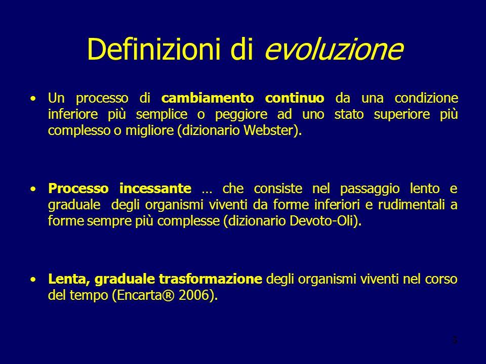 Definizioni di evoluzione