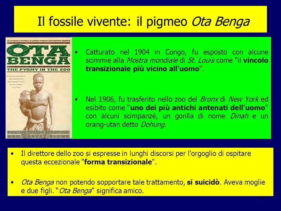 Il fossile vivente: il pigmeo Ota Benga