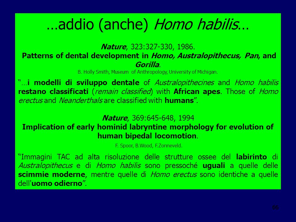 …addio (anche) Homo habilis…