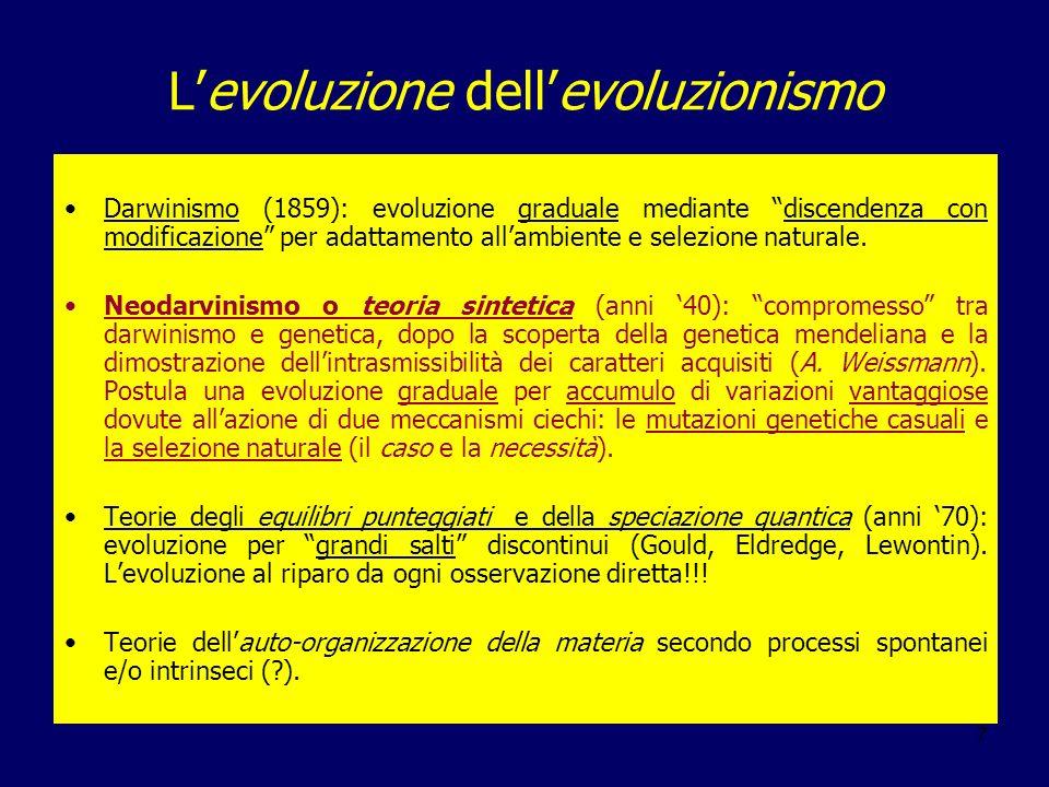 L'evoluzione dell'evoluzionismo
