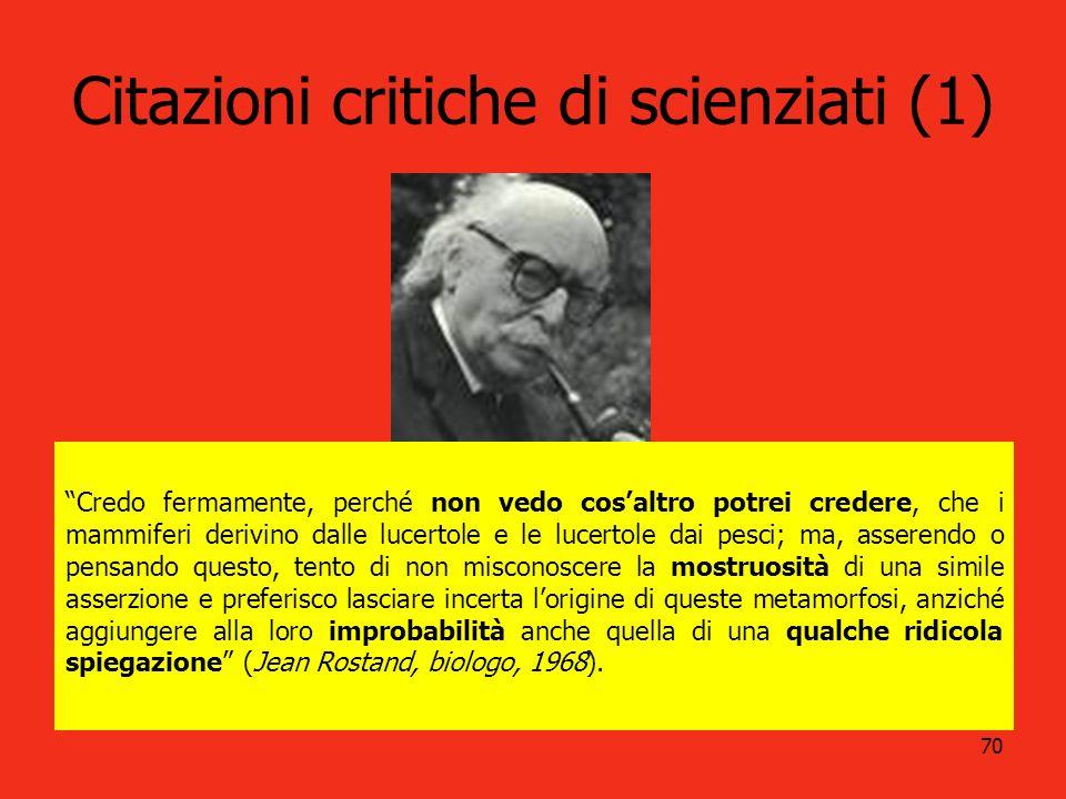 Citazioni critiche di scienziati (1)
