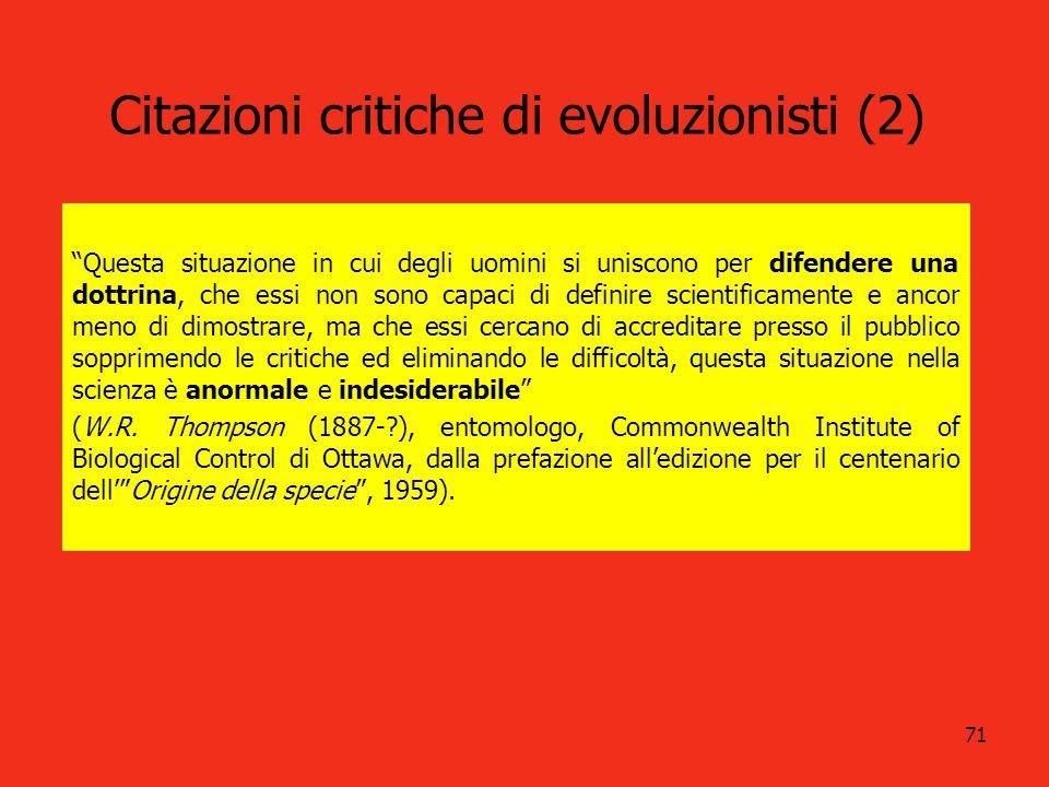 Citazioni critiche di evoluzionisti (2)