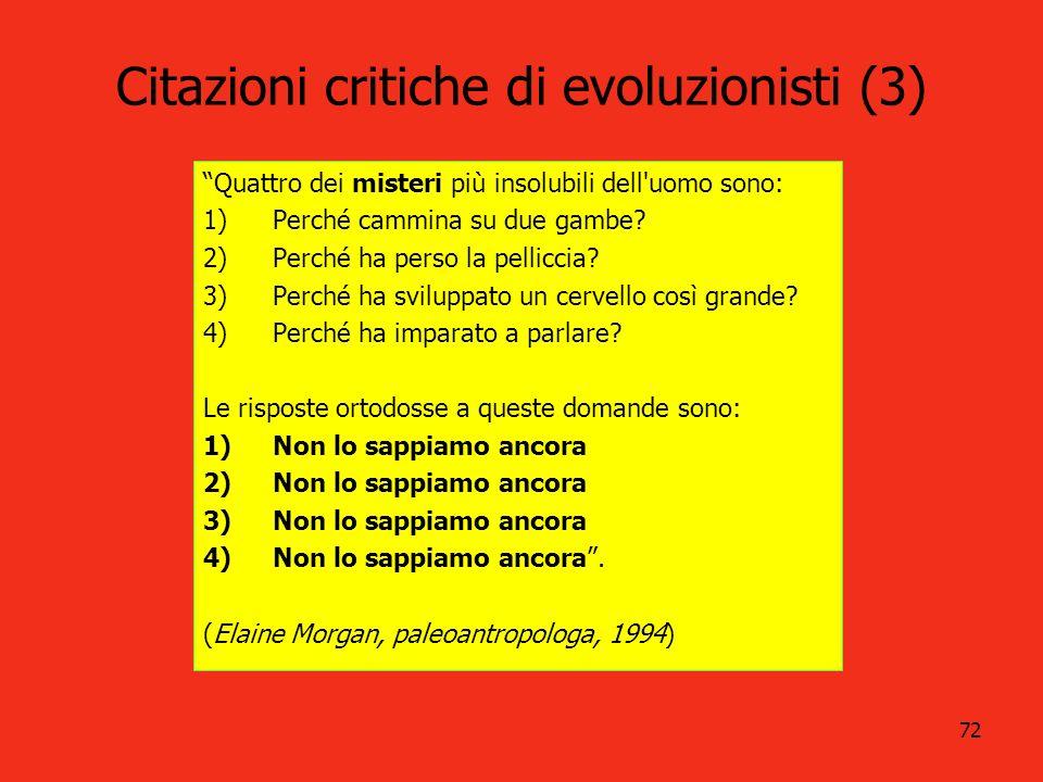 Citazioni critiche di evoluzionisti (3)