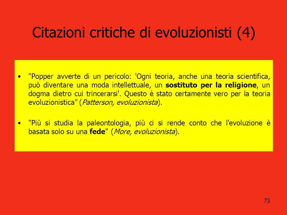 Citazioni critiche di evoluzionisti (4)