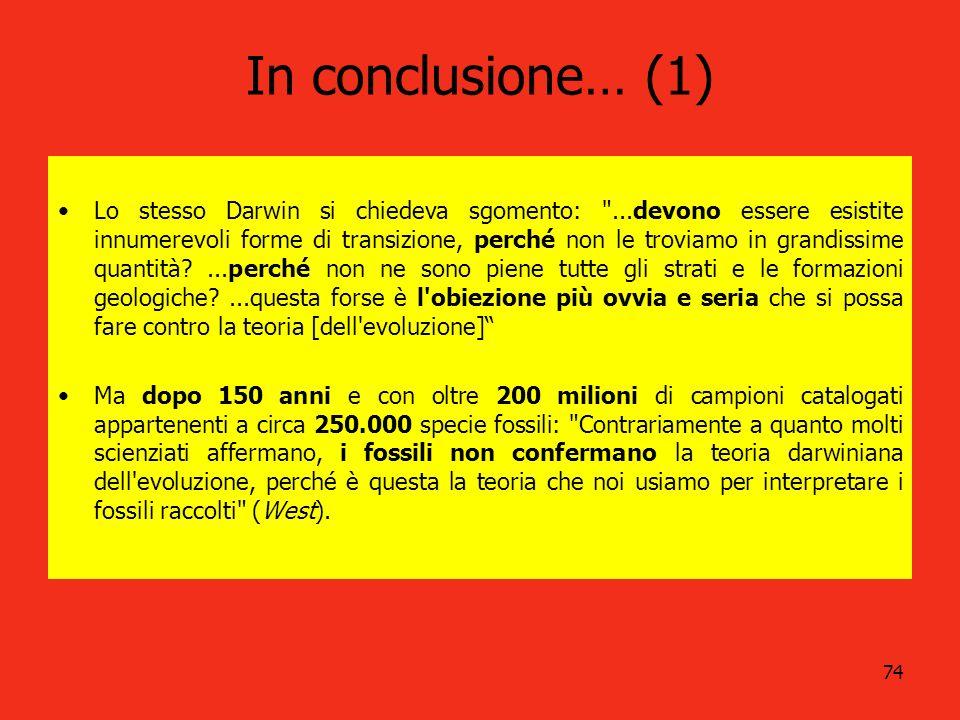 In conclusione… (1)