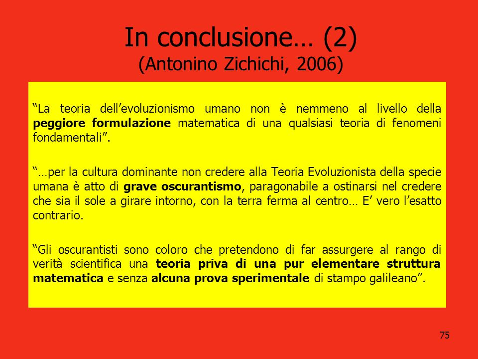 In conclusione… (2) (Antonino Zichichi, 2006)