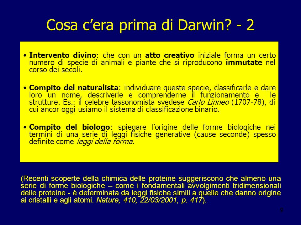 Cosa c'era prima di Darwin - 2