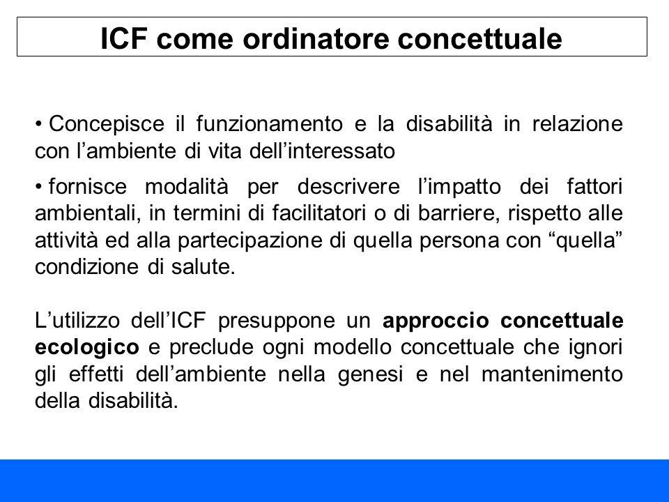 ICF come ordinatore concettuale