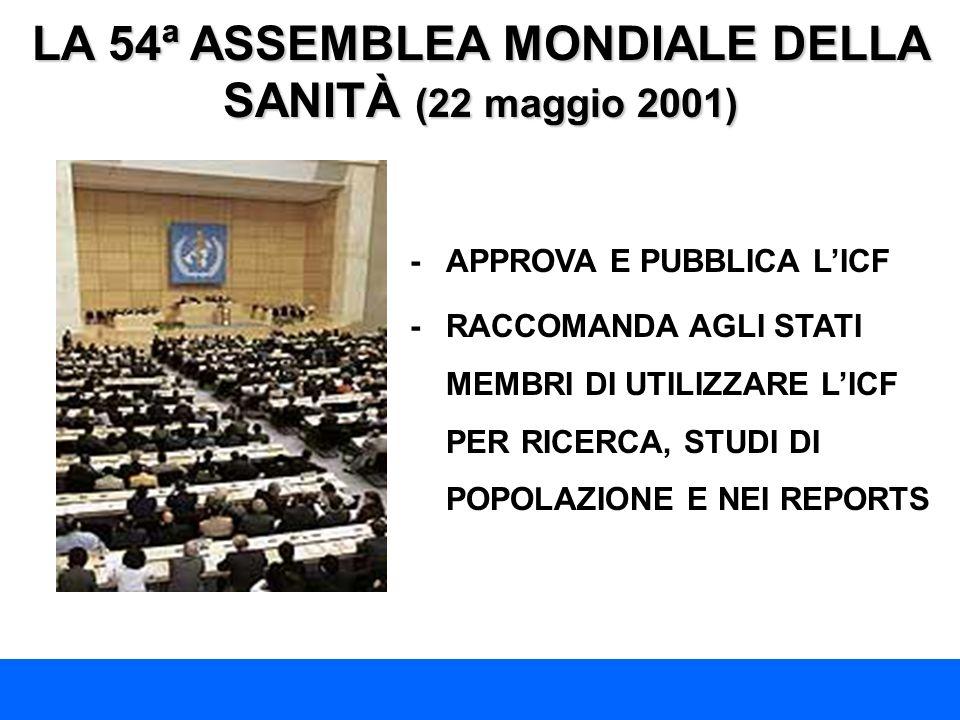 LA 54ª ASSEMBLEA MONDIALE DELLA SANITÀ (22 maggio 2001)