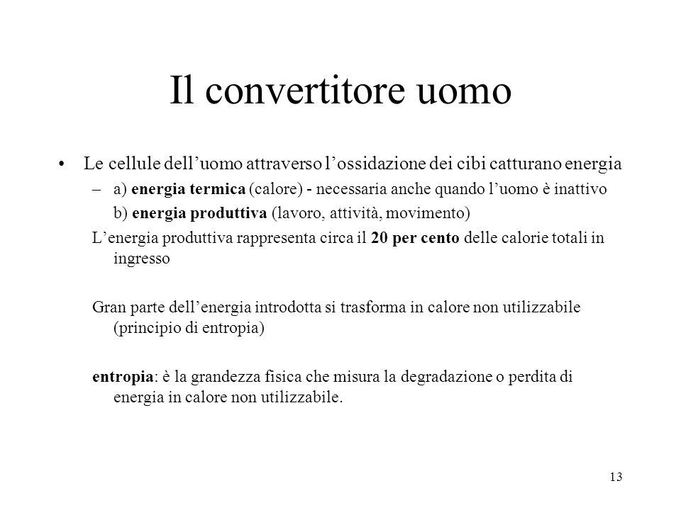 Il convertitore uomo Le cellule dell'uomo attraverso l'ossidazione dei cibi catturano energia.