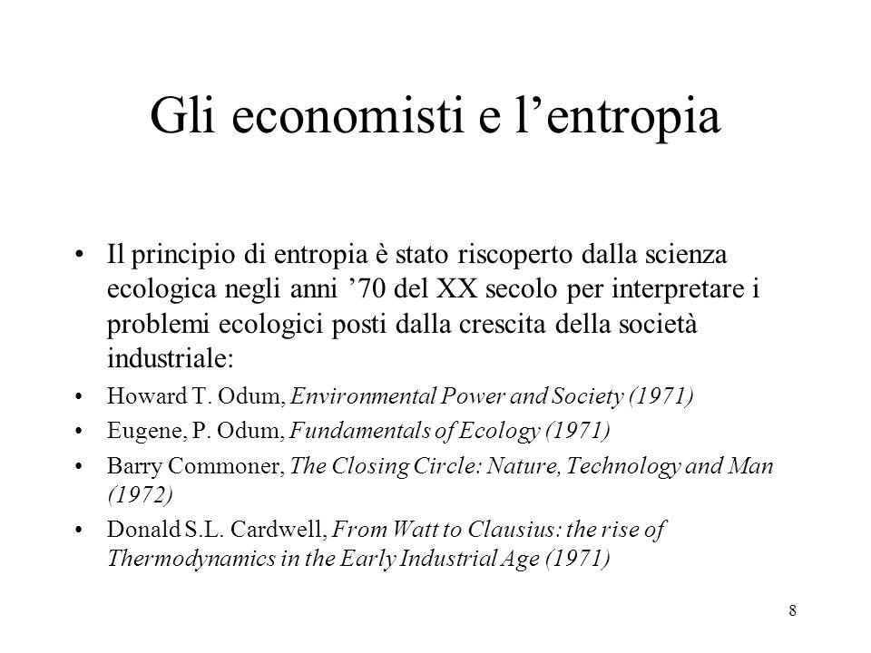 Gli economisti e l'entropia