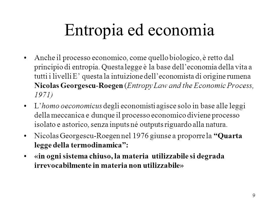 Entropia ed economia