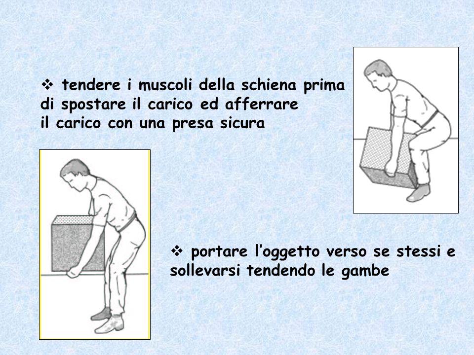 tendere i muscoli della schiena prima